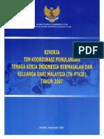 Kinerja TK-PTKIB Tahun 2007