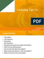 TOEFL - Listening Tips (1)