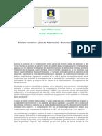 El Estado Colombiano Crisis de Modernización o Modernización Incompleta