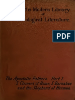 Wake, Burton, Reeves. The apostolic fathers. [1888-1889?]. Vol. 1.