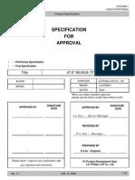 Lg.philips Lc470wu1-Sla1 Lcdpanel Datasheet