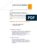 Bibliografía del Curso de Biofísica