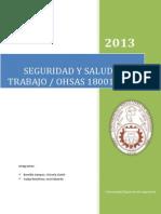 SISTEMA DE GESTIÓN SEGURIDAD Y SALUD EN EL TRABAJO - OHSAS 18001