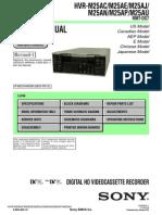 Sony Hvr m25ap Service Manual