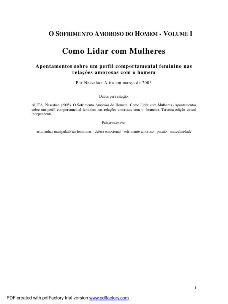 Nessahan Alita - Como Lidar Com Mulheres (Ed  2007 Revisada