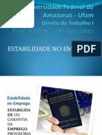 Direito Do Trabalho i - Estabilidade