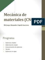 Mecánica de materiales CNC 1