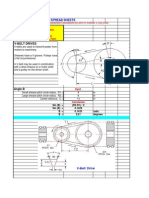 Design Calculation of Pulley & Belt Drive | Belt (Mechanical