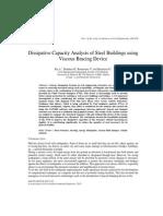 Dissipative Capacity Analysis of Steel Buildings using Viscous Bracing Device