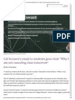 Cal Lecturer's Email to Students Goes Viral_ _Why I Am Not Canceling Class Tomorrow_ _ CAA