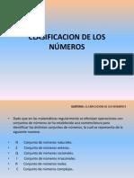 CLASIF. DE LOS NÚMEROS