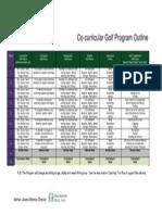 golf program outline