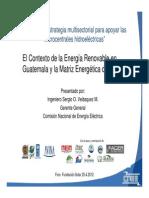 Contexto de Energía Renovable en Guatemala y Matriz Energética del País