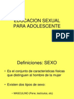 51569801 Educacion Sexual Ppt