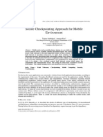 Secure Checkpointing Approach for Mobile Environment