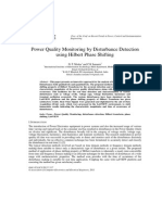 Power Quality Monitoring by Disturbance Detection