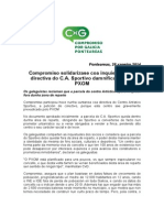 COMPROMISO apoia as peticións da asemblea do Sportivo sobre o PXOM