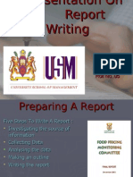 A Presentation on Report Writing