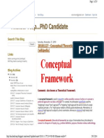 Blog Conceptual Framework, Theoretical Framework