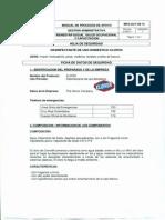 MSDS ( Dsinfectante Clorox)