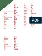 英文海洋平台技术词汇