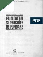Iancint Manoliu Fundatii Si Procedee de Fundare
