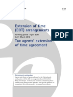 EOT - Extension of Time Arrangements - May 2011