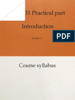 CLS 231 Introduction Final