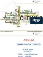 CHEM1010 Transitio Metal Lec Notes