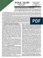 Zomi Times Weekly News (25 January 2014)