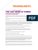 The Lost Word of Power