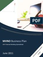 Brochure - MVNO Business Plan wSpreadsheet June2011f