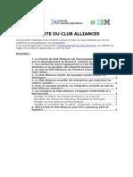 2009.09.28 - Club Alliances - Charte