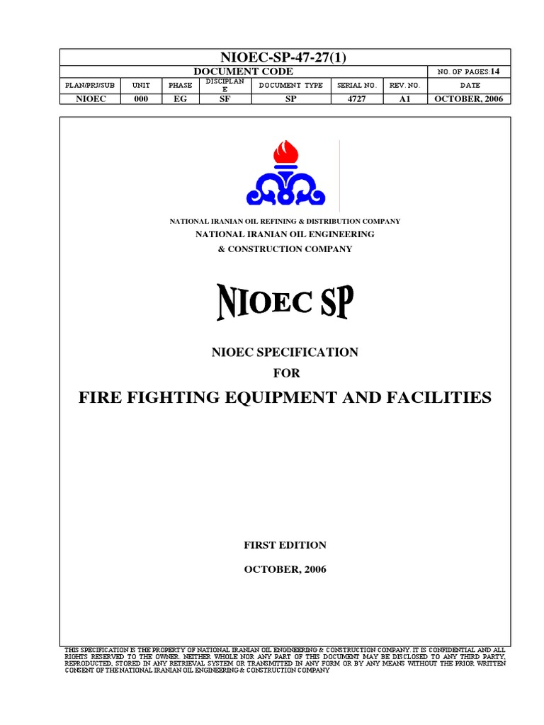 Sp-47-27[Fire Fighting Equipment and Facilities] | Pump | Firefighting