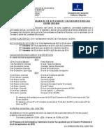 EXTRACTO CALENDARIO - ACTIVIDADES 2013-2014