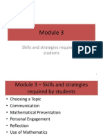 Math Exploration Skills required by students