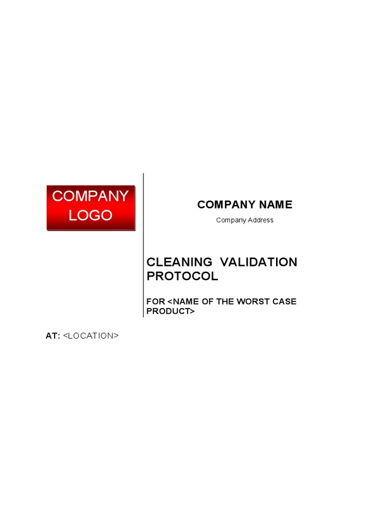 Cleaning validation protocol verification and validation chemistry pronofoot35fo Choice Image