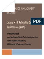 Lecture 14 - Reliability Centered Maintenance-2012