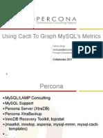 Collaborate2011 Using Cacti to Graph MySQL's Metrics