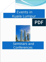 Conferences and Seminars (Events) in Kuala Lumpur, Malaysia