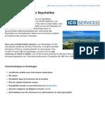 Fiche descriptive - Société Offshore aux Seychelles (ICO Services)