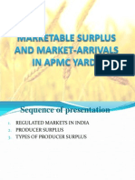 Marketable Surplus and Market-Arrivals in APMC Yards