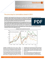 Commodities and Energy, January 2014