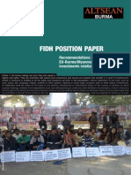 FIDH_ALTSEAN BURMA Recommendations Concerning EU-BurmaMyanmar Investment Relations