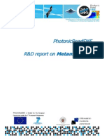 PhotonicRoadSME_RD Report on Metamaterials
