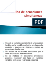 4. Modelos de Ecuaciones Simultaneas