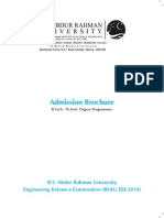 BS Abdur Rahman University Admission Brochure
