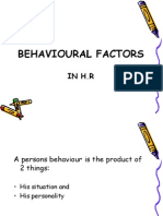 Behavioral Factors in Hr....Shahid Elims