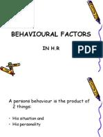 Behavioral Factors in Hr....Shahid Elims