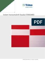 Sistem Horizontalnih Fasada Standard 6026